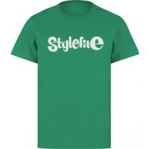 STYLEFILE T-SHIRT GREEN / WHITE