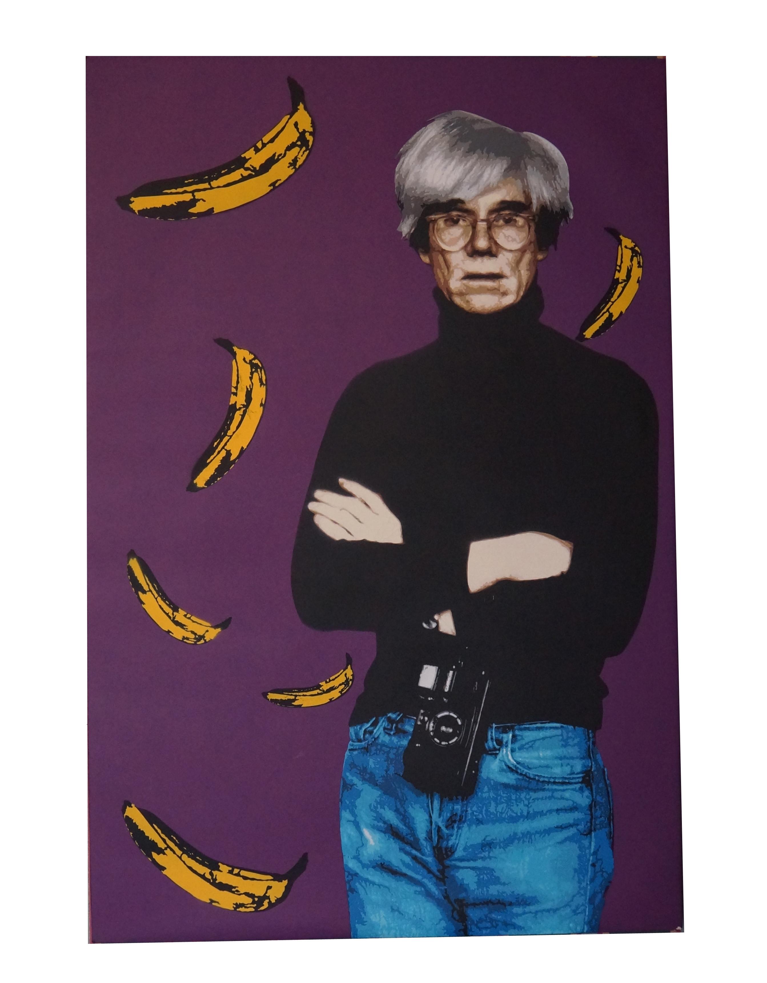 Andy Warhol Original Canvas by Lemak