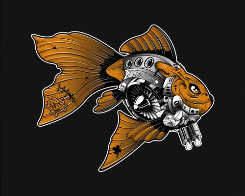 FPS - GOLDFISH CANVAS (SMALL)