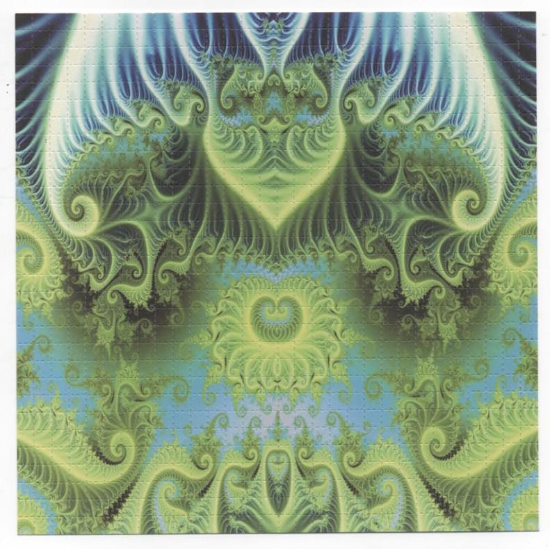 BLUE GREEN PSYCHADELIC - BLOTTER ART