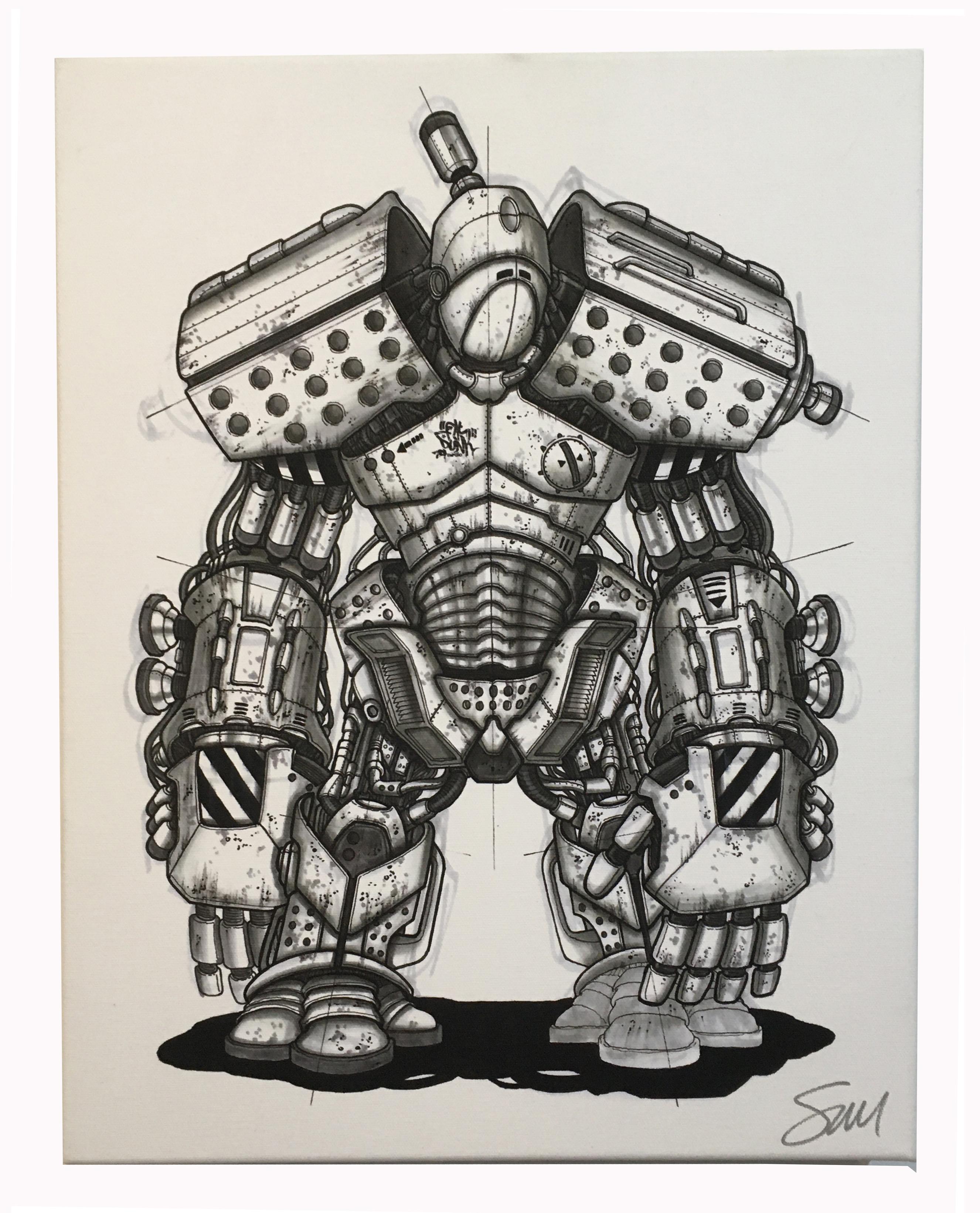 FPS - ROBOT SKETCH CANVAS (LARGE)