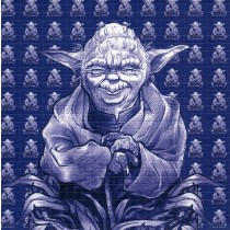 YODA (BLUE) - BLOTTER ART