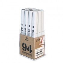 MTN 94 Graphic Markers - Grey Set of 12