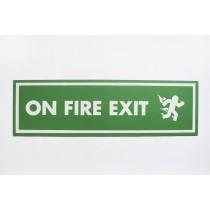 """ON FIRE EXIT"" SIGN by PAHNL"