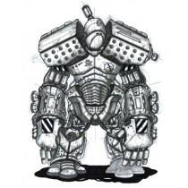 ROBOT SKETCH PRINT - A3