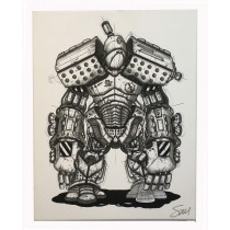 FPS - ROBOT SKETCH CANVAS (SMALL)