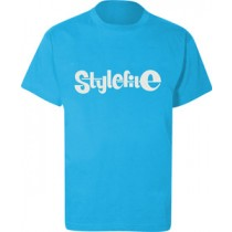 STYLEFILE T-SHIRT LIGHT BLUE / WHITE