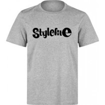 STYLEFILE T-SHIRT HEATHER GREY / BLACK