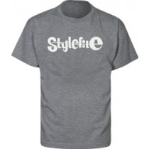 STYLEFILE T-SHIRT DARK GREY / WHITE