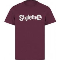 STYLEFILE T-SHIRT MAROON / WHITE