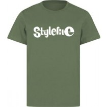 STYLEFILE T-SHIRT OLIVE / WHITE