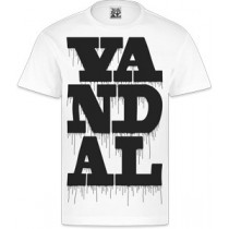 VANDAL WEAR T-SHIRT - VANDAL DRIPS BLACK ON WHITE